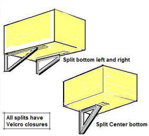 window unit split bottom